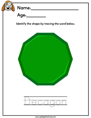 Identify the Shape Decagon
