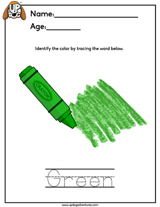 Identify the color Green