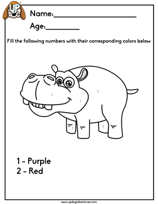 Fill the Number Hippo
