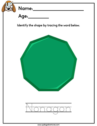 Identify the Shape Nonagon